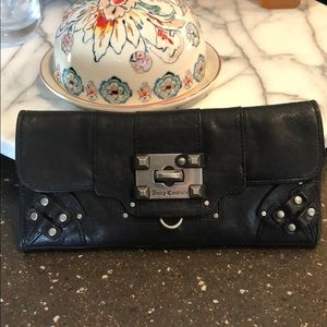 Juicy Couture black leather wallet vintage